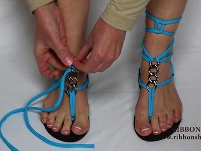 Diseños de sandalias Ribbon shoes