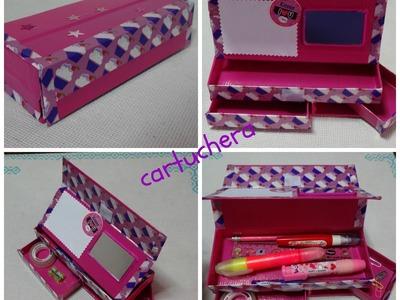 DIY cartuchera. pencil case