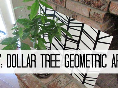 DIY - Dollar Tree Geometric Wall Art
