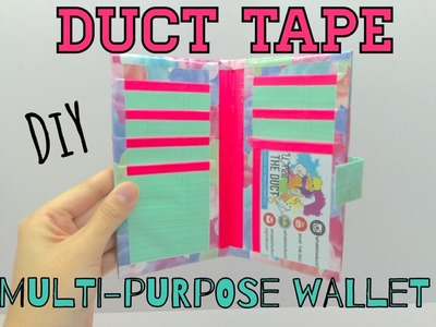 DIY Duct Tape Multi Purpose Wallet Tutorial!