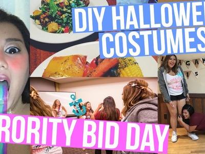 DIY HALLOWEEN COSTUMES + SORORITY BID DAY!!