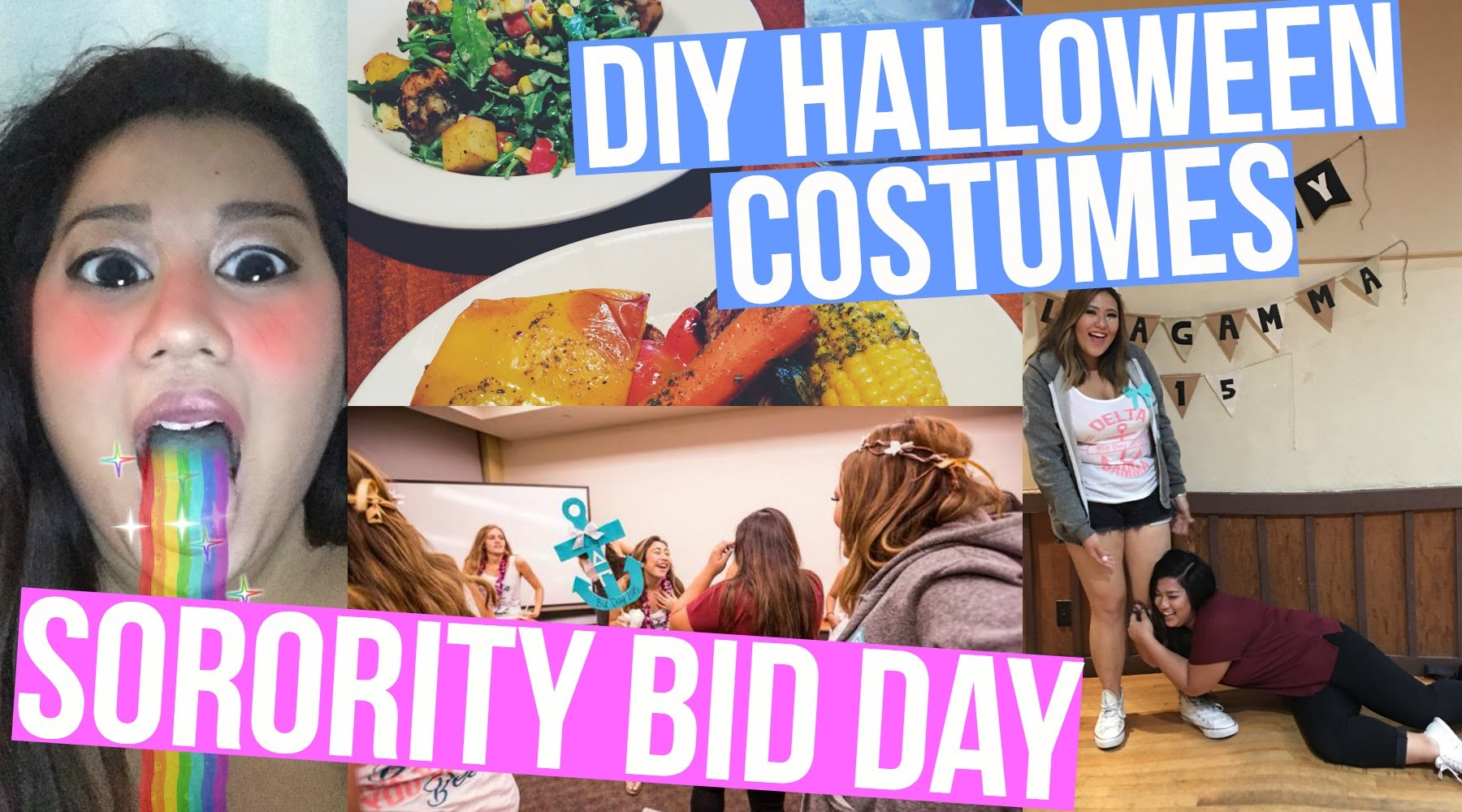 DIY HALLOWEEN COSTUMES + SORORITY BID DAY!!