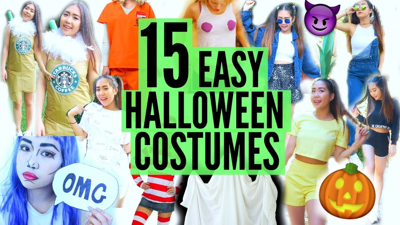 DIY Last Minute EASY HALLOWEEN COSTUME IDEAS! (FAST & CHEAP)