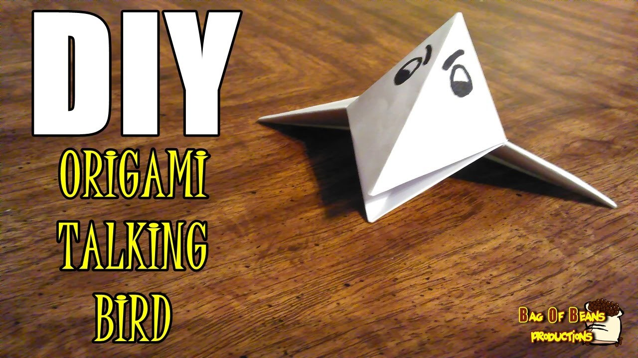 DIY Origami Talking Bird