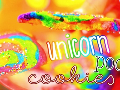 DIY Unicorn Poop Sugar Cookies!