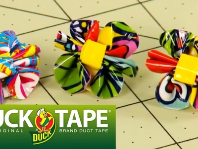 Duck Tape Crafts: How to Make Duct Tape Flower Earrings