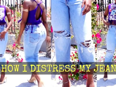 Easy DIY Distressed Denim