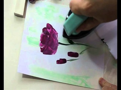 Encaustic Art Flower Painting : Roses by Art In Wax