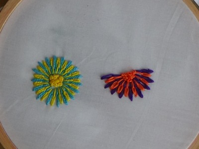 Hand Embroidery: Long and Short Separate Chain Stitch