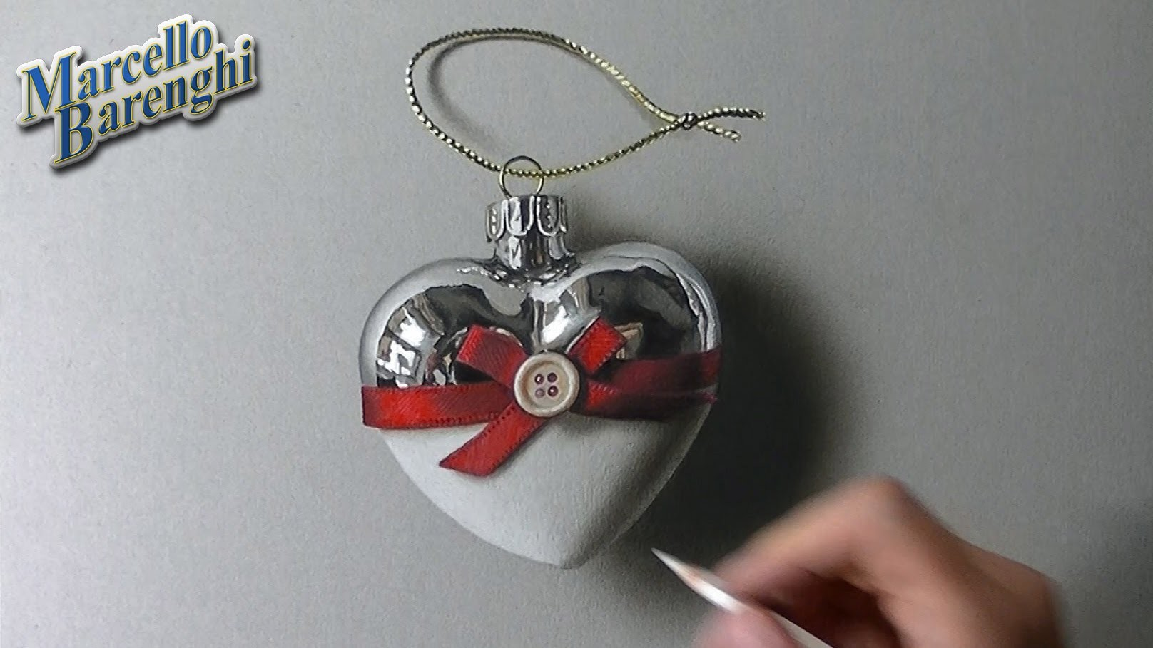 Heart Shaped Christmas Bauble - Drawing