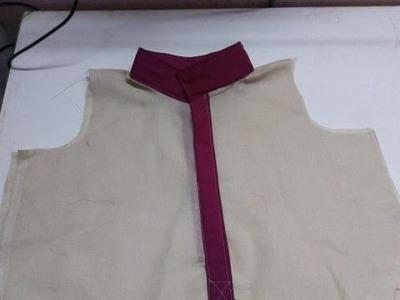 High Collar. Mandarin collar  Making (DIY )