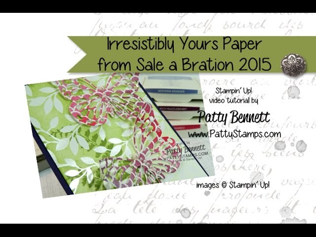 How to Color the Irresistibly Yours paper from Stampin' Up!