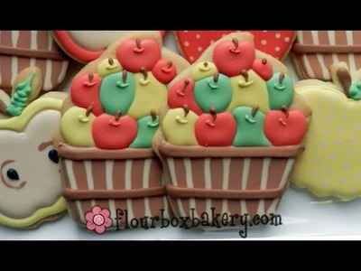 How to Decorate an Apple Basket Cookie