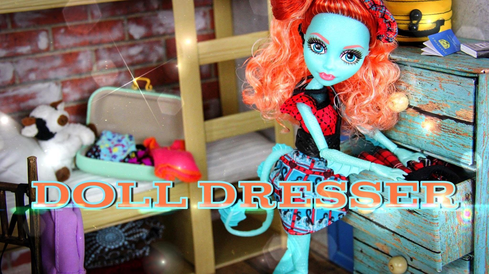 How to Make a Doll Dresser - Doll Crafts