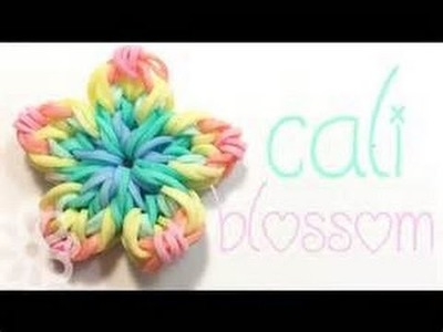 How To Make A Rainbow Loom California Blossom