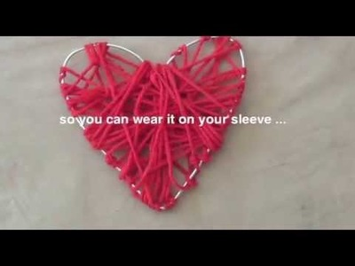 How to make a yarn heart