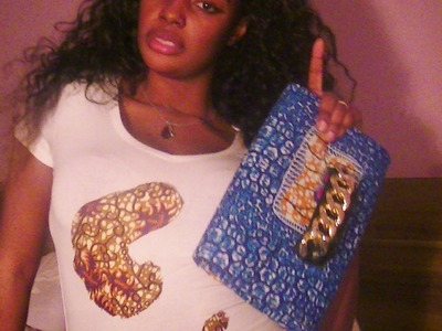 How to make an Ankara clutch. Goldenyaa `s fashion tip