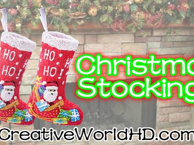 How to Make Christmas Stocking - 3D Printing Pen Creations DIY Tutorial by Creative World