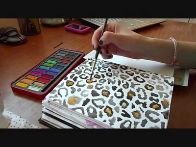 How to: Paint Leopard Print with Watercolours