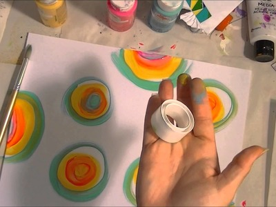 How to paint multi color circles