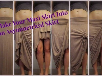 How to Style a Regular Maxi Skirt into an Asymmetrical Skirt