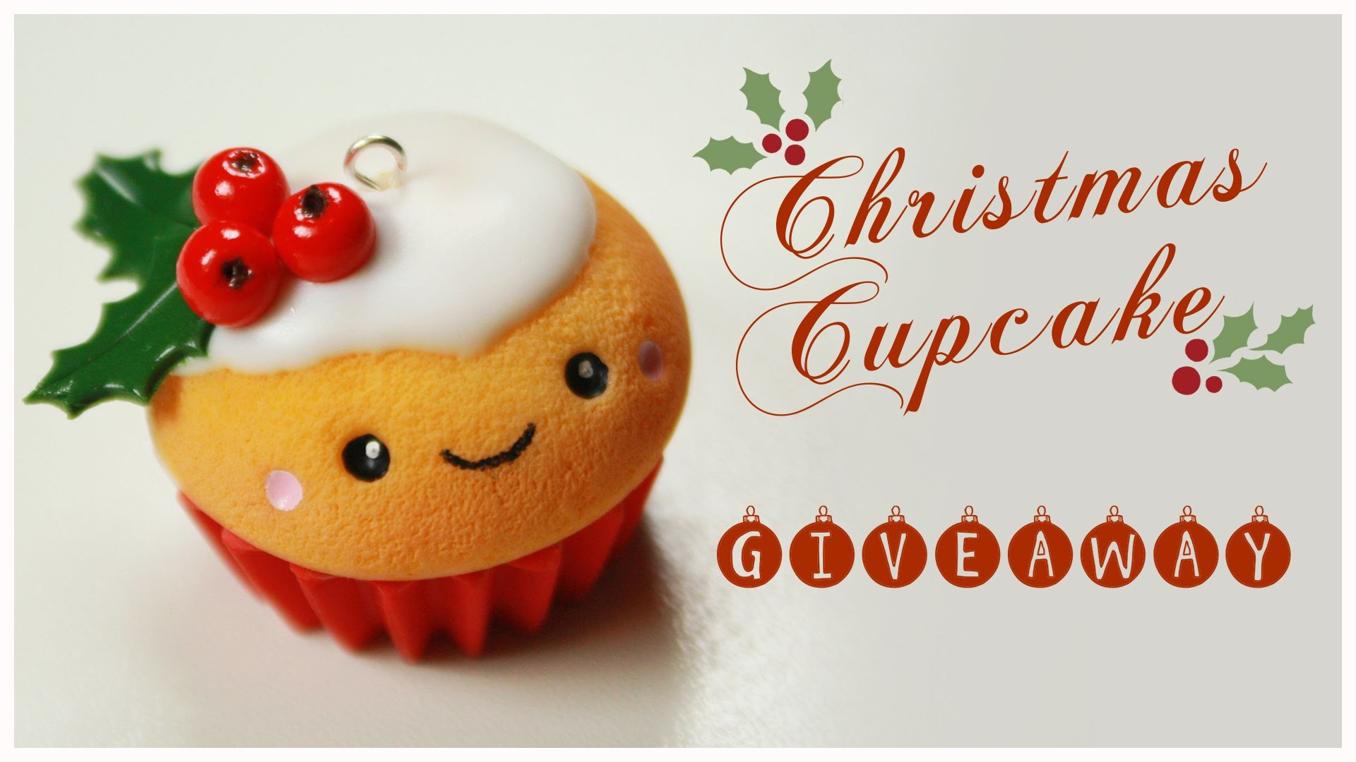 Kawaii CHRISTMAS Cupcake TUTORIAL - HUGE Holiday Giveaway (CLOSED) !!! ( AmiGami ,FIMO, jewelry)