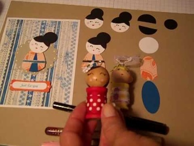 Kokeshi Inspired Punch Art - Stampin' UP! Tutorial