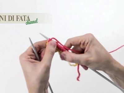 MANI DI FATA - MAGLIA TUBOLARE - TUBULAR CAST-ON (WITH WASTE YARN) - TUBULAR CON DOS AGUJAS