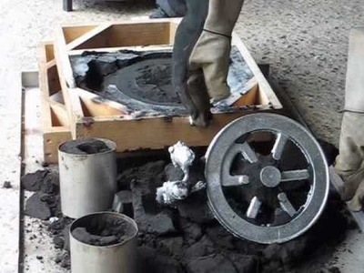 Metal Casting at Home Part 14  Another Flywheel Casting