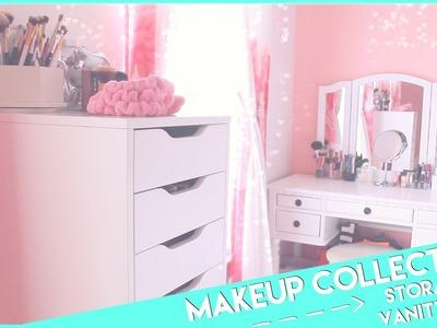 My Makeup Collection, Storage &Vanity Tour♡2015