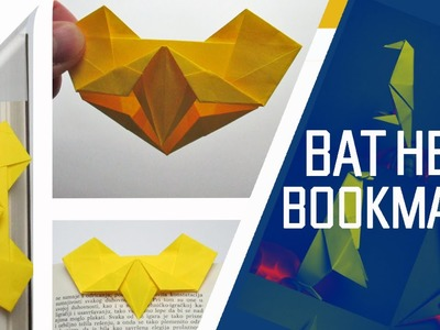 Origami - How To Make An Origami Bat.Bookmark (Halloween)