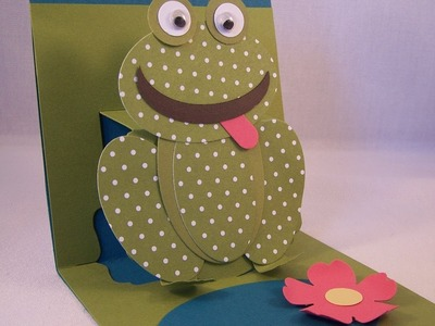 Punch Art Frog & Pop Up Card