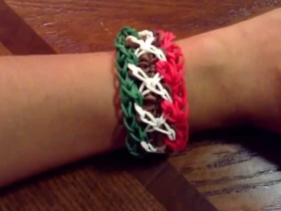 Rainbow Loom Mexican Flag bracelet