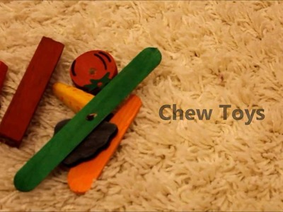 Recycle Old Chew Toys *Home-made Kabob*