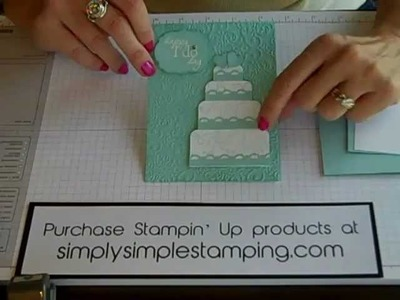 Simply Simple FLASH CARD Wedding Cake by Connie Stewart