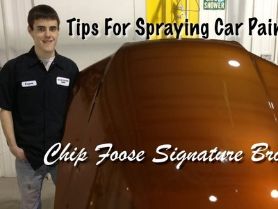 Spraying Chip Foose's Bronze Base Coat - Foose Signature Paint - DIY Spray Painting Tips