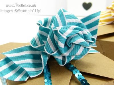 Stampin' Up! UK Ribbon Bow Take Out Box Tutorial