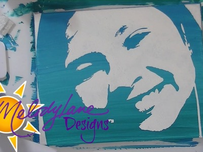 Stencil Painting with Cricut Explore