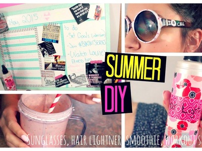 Summer DIY!! Workout Schedule; Hair Lightener; Donut Sunglasses; Summer Smoothie!! | Laurie Martel
