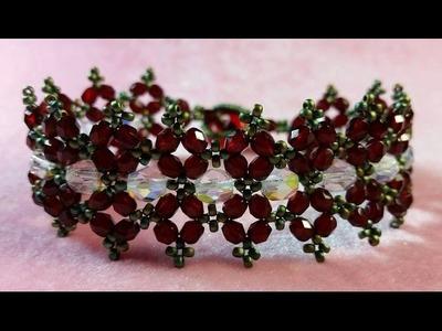 (Tutorial) Holiday Poinsettia Bracelet DIY (Video 148)