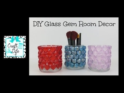 Craft Life ~ DIY Decorative Glass Gem Gifts & Room Decor for Valentine's Day