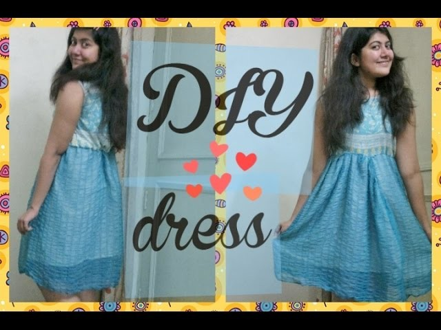 DIY#2- BLUE HIGH WAIST DRESS