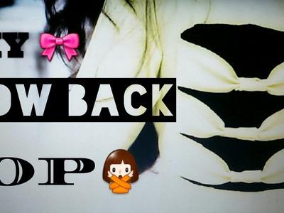 DIY BOW BACK TOP || Mansi