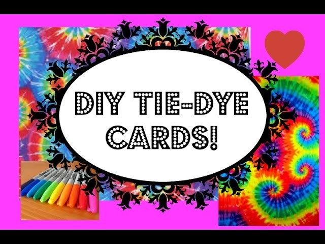 DIY  Card Tie Dye || Sharpie Art || Alique K