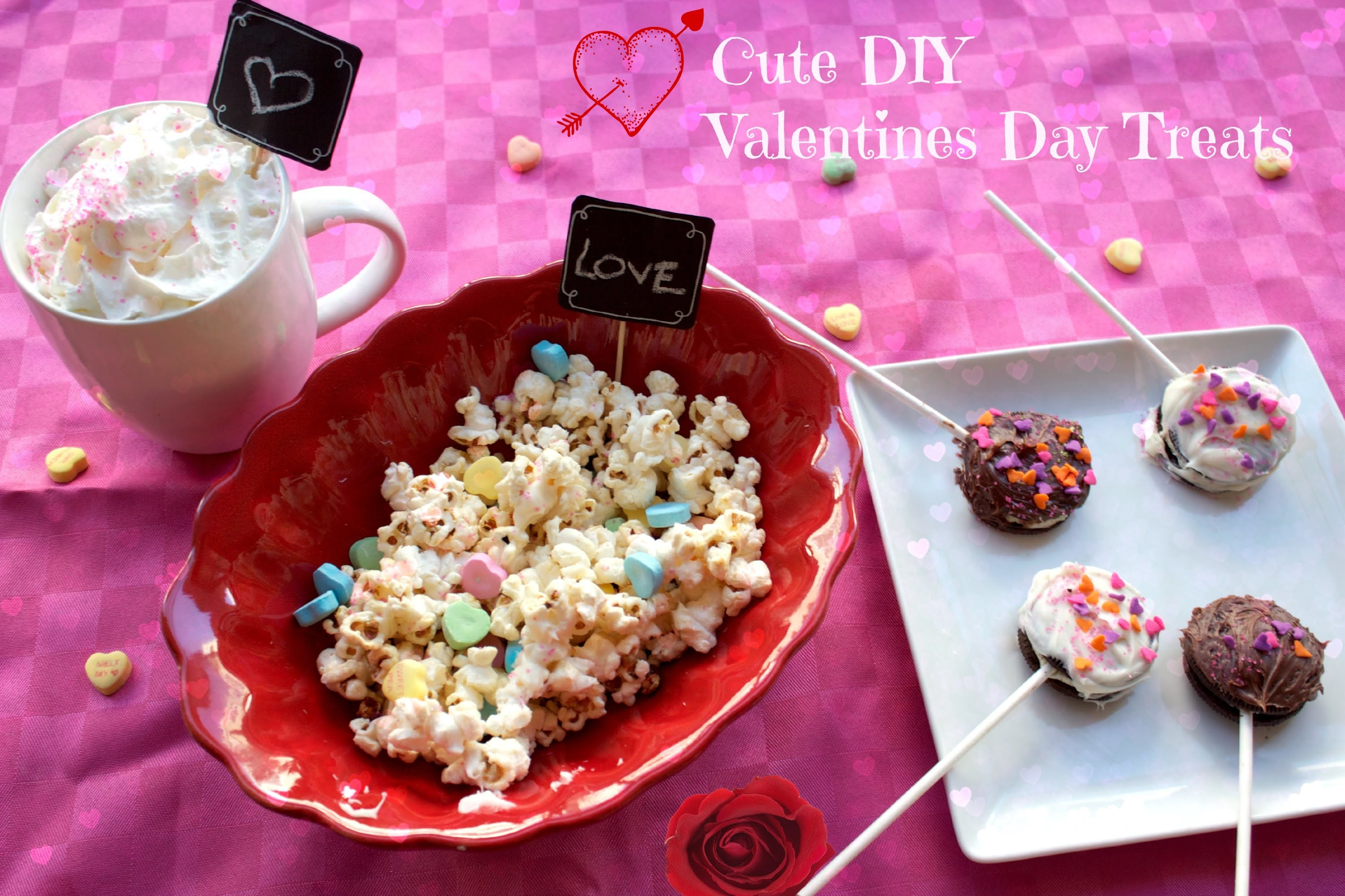 DIY Cute and yummy Valentine's Day treats!