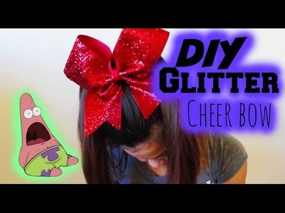 DIY Glittery Cheer Bow
