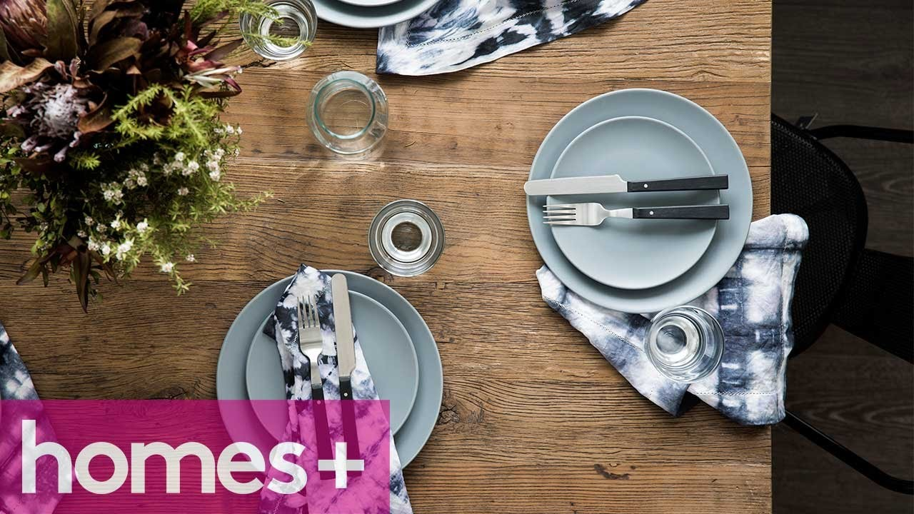 DIY PROJECT: Shibori napkins - homes+