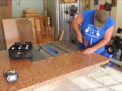 Diy project - Table saw extension and out feed table.  Part 1
