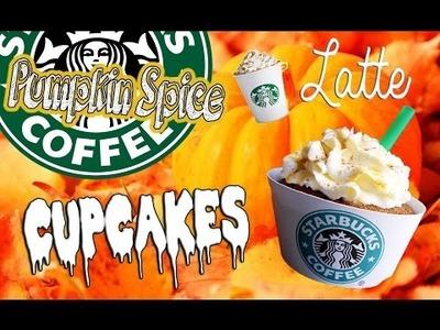 DIY Starbucks Pumpkin Spice Latte Inspired Cupcakes!