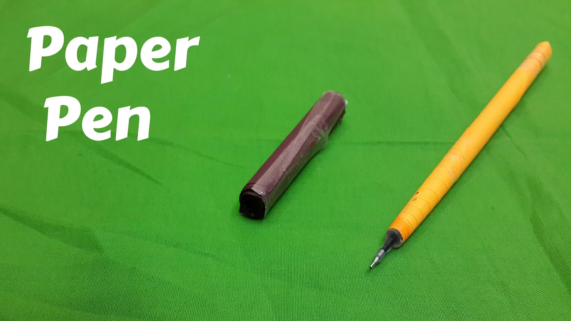How to Make a Simple Paper Pen : DIY Craft Ideas
